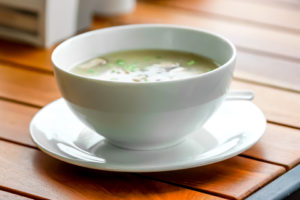 Wild Rice Mushroom Soup with maple