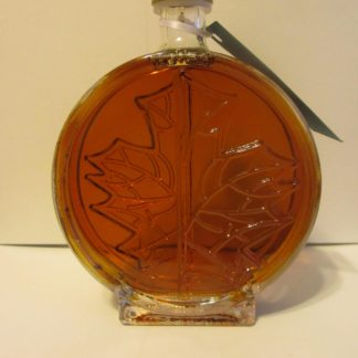 Double Maple Leaf Bottle Pure Maine Maple Syrup-0